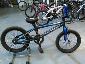 BOYS TONY HAWK RAGAMUFFIN BMX BIKE 16 INCH WHEELS GREY/BLUE GOOD CONDITION