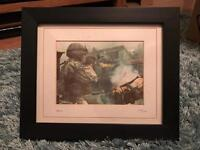 COD MW2 Limited Edition Print with frame