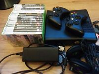 Xbox 360 + 2 Controllers + 18 Games + Turtle Beach X12 Headset