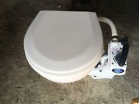 Used, Jabsco manual compact toilets with twist neutral lock in good condition for sale, Make me an offer? for sale  Abingdon, Oxfordshire