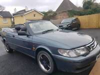 Saab 93 convertible mot. low miles. some history