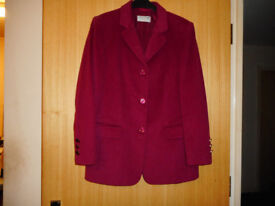 Ladies Red City Combi by Delmod Jacket size 12