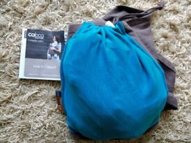 Close Caboo baby carrier organic cotton