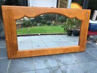 Solid Oak Quality Mirror