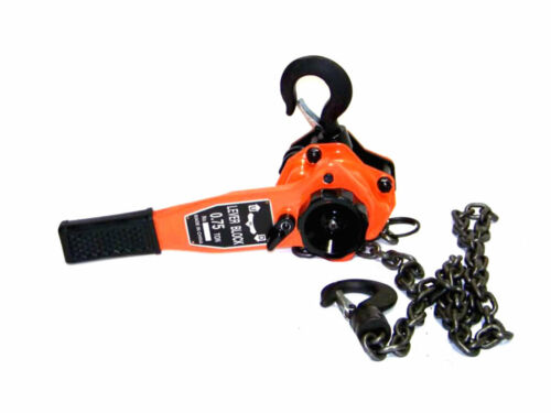3/4 TON LEVER BLOCK CHAIN HOIST RATCHET TYPE COMEALONG PULLER LIFTER