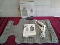 Silver Crest Personal Care Back & Neck Heat Pad-Good Working Order-Proceeds To Local Charity