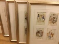 4 gorgeous gold effect frames with prints