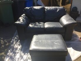 High Quality Black Leather Suite for Sale