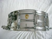 "Ludwig 410 seamless alloy Supersensitive snare drum 14 x 5"" - Chicago '61-'68"