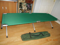 heavy duty aluminium single camping bed very good clean used condition