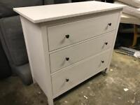 FREE DELIVERY IKEA HEMNES WHITE STAIN 3 DRAWER CHEST GREAT CONDITION