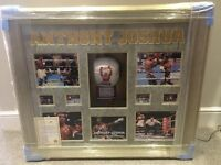 ANTHONY JOSHUA - SIGNED FRAMED GLOVE (LED backlight)