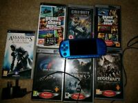 Sony PSP bundle 64MB + 8 games