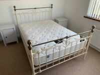 Metal Frame Double Bed w/ Mattress - excellent quality
