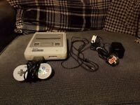 Super Nintendo SNES PAL console with original cables