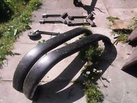Boat trailer parts, winch, snubber, rollers, mudguards, jockey wheel, winch post