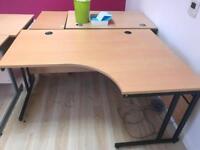 Large curved desk for sale