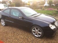 55 plate mercedes-benz c160 sport coupe