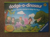 Dodge-a-Dinosaur Board Game