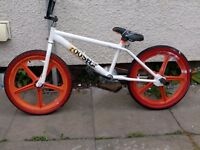 bmx bike rooster orange and white