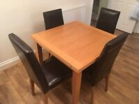 Dining Chairs Faux Leather Brown