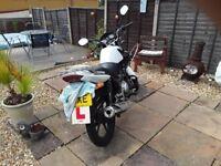Yamaha ybr 125 white 10471 miles mot due July