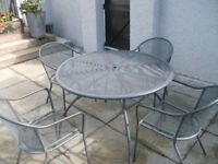 OUTDOOR GARDEN TABLE AND 4 CHAIRS