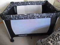 MOTHERCARE DELUXE TRAVEL COT AS NEW WITH MATTRESS