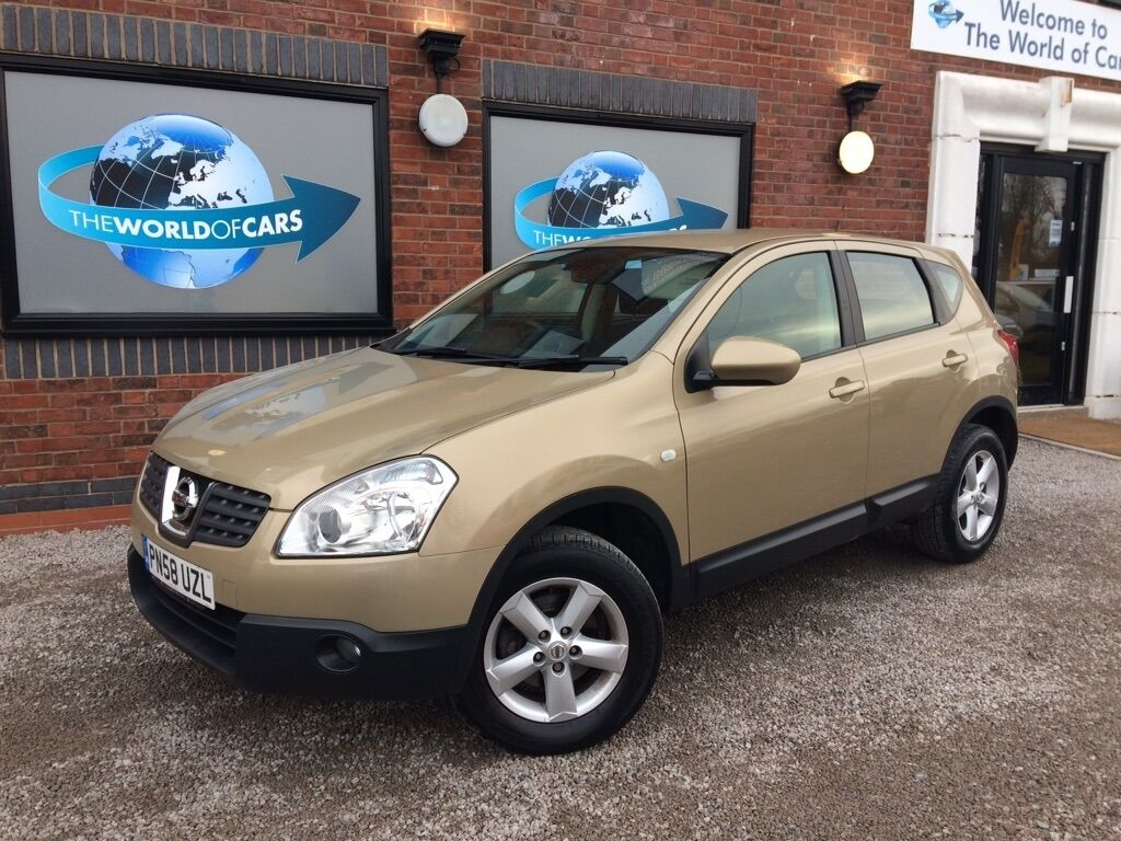 nissan qashqai 1 6 acenta hatchback 5dr petrol manual 2wd 159 g km 113 bhp gold 2008 in. Black Bedroom Furniture Sets. Home Design Ideas