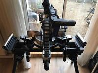 "10"" 255mm double bevel sliding compound mitre saw & bench"
