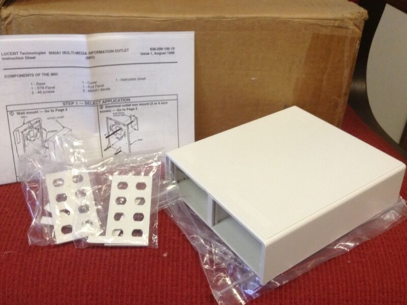 LUCENT TECHNOLOGIES - Surface Mount Box - P/N #M40A1-B-262 - Lot of Nine (9)