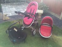 Silver cross surf - pushchair, carrycot & car seat