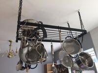 Industrial Ceiling pot rack
