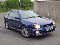 2001 Subaru Impreza 2.0 GX non turbo estate 4wd 4x4 jeep full year mot, credit cards accepted.