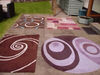 4 X RUGS IN GOOD CONDITION