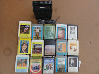 Vintange Car 8 tracks player with 65 tapes perfect Working order