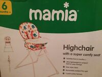 Mamia Highchair - 6 Months+ (Like NEW)