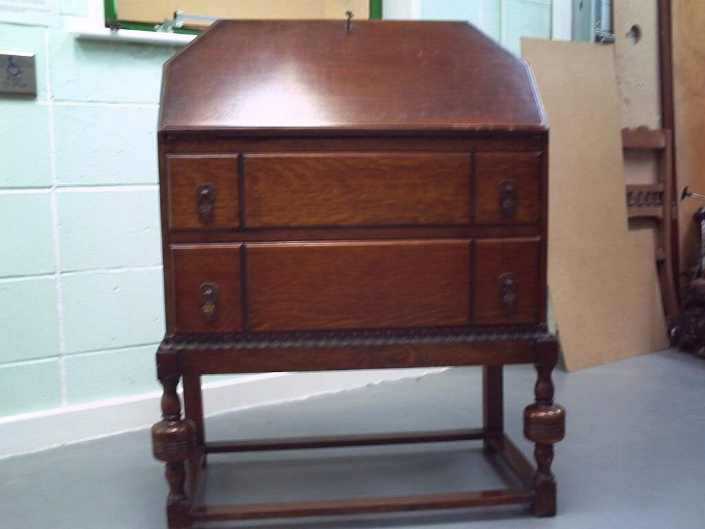 Period Writing Bureau - Mid Oak