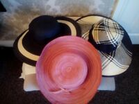 3 WOMENS SUNHATS BRAND NEW FOR SALE