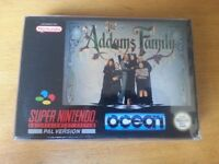 SNES Super Nintendo Addams Family complete with manual & protective sleeve