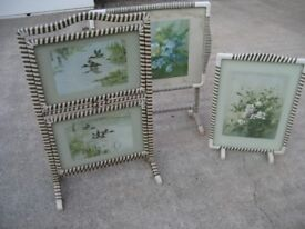 RETRO 60'S FOLDING TABLES AND FIRE SCREEN