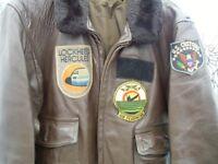 Vintage USN Leather Flying Jacket