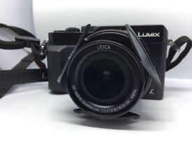 Panasonic Lumix DMC LX100 Camera Black 12.8MP 4K Video Leica Lens with all accessories and case