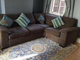 DFS corner metal frame sofa bed