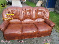 leather sofa used in n wales