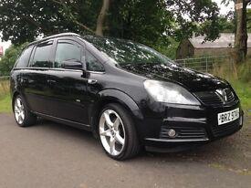 2007 Vauxhall Zafira CDTI 150bhp X PACK 114,000 miles 7 Seater Black Mot,d to December scarce model