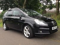2007 Vauxhall Zafira CDTI 150bhp X PACK 114,000 miles 7 Seater Black Mot,d to December scarce model