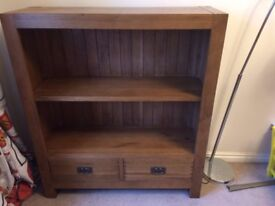 Rustic Solid Oak Bookcase Lovely - Very Good Condition Warwick Collection Offers