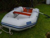 Rib boat Seago 270 Airdeck with oars, Launching Wheels and pump. ( As New only used three times )