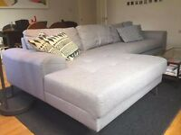 Pearl Grey Vittorio Left Hand Facing Corner Sofa Group